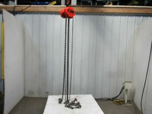 Cm Model S 1 1 2 Ton Manual Chain Fall Hoist 21 Lift W load Limiter Tested
