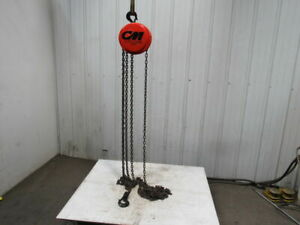 Cm Model S 1 Ton Manual Chain Fall Hoist 19 7 Lift W load Limiter Tested