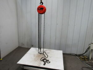 Cm Model S 1 Ton Manual Chain Fall Hoist 12 Lift W load Limiter Tested