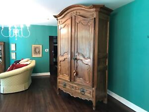 1800 S Walnut French Armoire Incredible