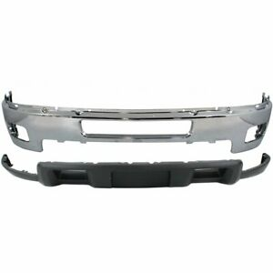 New Bumper Face Bar Kit Front Chevy Chevrolet Silverado 2500 Hd Heavy Duty 3500