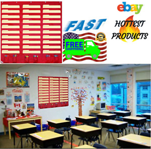 30 Pocket Storage Chart Wall Hanging File Sorter Organizer For Class Home Office