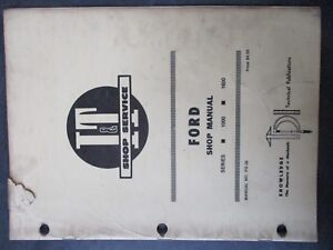 Ford 1000 1600 Tractor Shop Manual