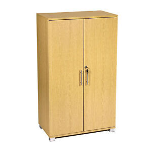 Filing Cabinet Lockable Two Door 3 Shelves Storage Cupboard Office Or Home Use
