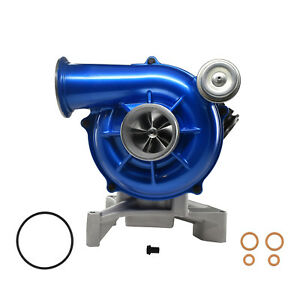 7 3l 99 5 03 Ford Powerstroke Gtp38 High Performance Turbo 5 5 Billet Wheel Blue