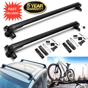 2x Universal Roof Rack Cross Bars Luggage Carrier Rubber Gasket For 4dr Car Us