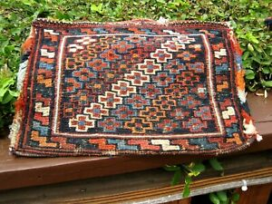 Amazing 1900 Caucasian Soumac Small Chenteh Great Colors 1 2 X 11 Inch