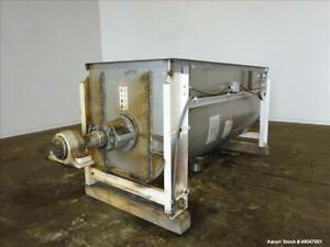 Used Aaron Process Equipment Double Spiral Ribbon Blender Approximate 55 Cubic