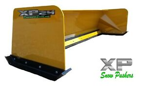 7 Xp24 Cat Yellow Snow Pusher Skid Steer Loader Local Pick Up