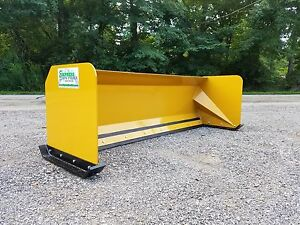 8 Snow Pusher Free Shipping Skid Steer Backhoe Loader Snow Plow Bobcat Case