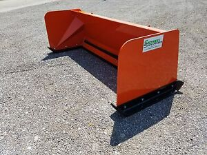 8 Low Pro Kubota Orange Snow Pusher Box Free Shipping Skid Steer Bobcat Case