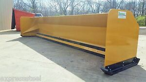 16 Snow Pusher Boxes Backhoe Loader Snow Plow Express Steel Free Shipping