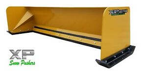 8 Xp24 Cat Yellow Snow Pusher Skid Steer Loader Local Pick Up