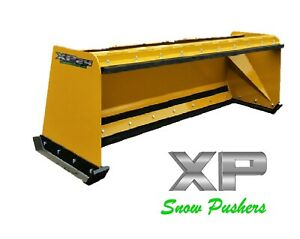 8 Xp24 Cat Yellow Snow Pusher W Pullback Bar Skid Steer Loader Local Pick Up