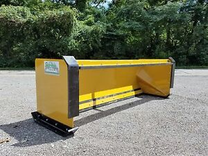 8 Pullback Snow Pusher With Front Shoes Free Shipping Skid Steer Bobcat Case