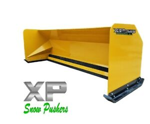 10 Xp36 Cat Yellow Snow Pusher Backhoe Loader Local Pick Up