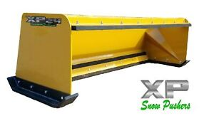 7 Xp24 Cat Yellow Snow Pusher W Pullback Bar Skid Steer Loader Local Pick Up