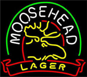 New Moosehead Lager Beer Bar Neon Light Sign 17 x14