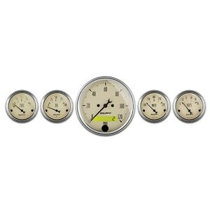 Autometer Gauge Set 1809 Antique Beige Street Rod Kit Free Shipping
