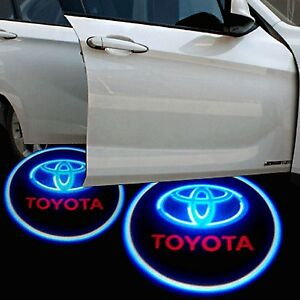2x Toyota Logo Wireless Car Door Welcome Laser Projector Shadow Led Light Emblem