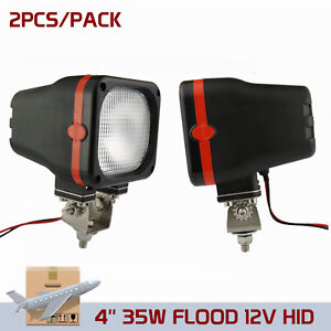 2x 35w 12v Flood Beam Xenon Hid Work Light Atv Truck Jeep Off Road Boat Vehicle