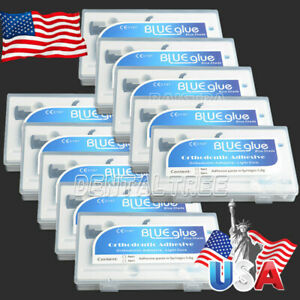 10x Orthodontic Dental Adhesive Light Cure Band Cement Blue Glue Kit For Bracket