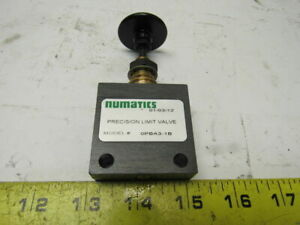 Numatics Opba3 1b 1 8 Precision Push Button Shuttle Pneumatic 2 Way Valve