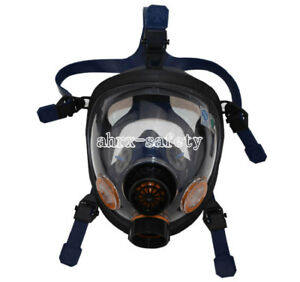 Silica Gel Full Face Anti Dust Respirator Single Canister Gas Mask st s100 2