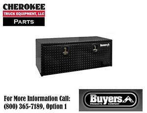 Buyers Products 1725120 Black Aluminum Underbody Toolbox 18 H X 24 D X 48 W