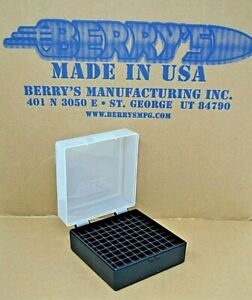 .223  556  ammo case  box 100 round (CLEAR COLOR) 222 223 556 Berry's mfg