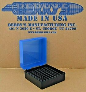 .223  556  ammo case  box 100 round (BLUE COLOR) 222 223 556 Berry's mfg