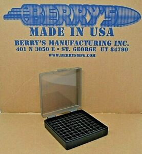 9 mm  380 - 100 round ammo case  box (SMOKE  BLACK) Berrys mfg 9 mm BRAND NEW