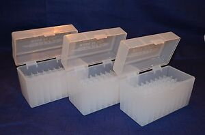 (3) 30-06  270 BERRY AMMO BOXES 50 RNDS OF STORAGE (CLEAR COLOR)