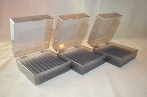 (3) .223 .556 BERRY AMMO BOXES 100 RND STORAGE FOR AMMO (SMOKE COLOR)