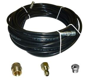 Sewer Jetter Kit 50 X 1 8 Hose Nozzle And 2 Fittings 1 To 3 Pipes
