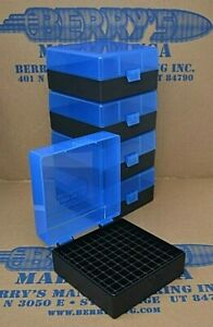 .223  556 ammo case  box 100 round (5) X (BLUE  BLACK) 223 556 Berry's mfg