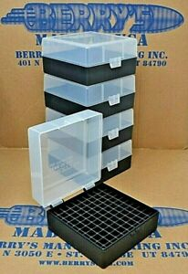 .223  556 ammo case  box 100 round (5) X (CLEAR  BLACK) 223 556 Berry's mfg