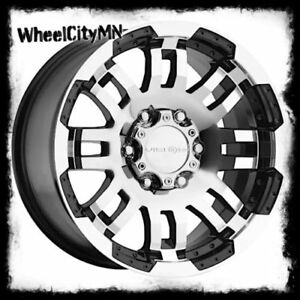 17 Inch Warrior 375 Vision Black Wheels Rims Fits Ford F150 1997 2003 5x135 18