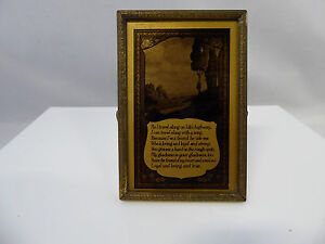 Antique Black Gold Poem Vanity Mirror Picture With Stand