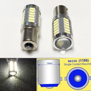 1156 P21w 7506 33 Led Projector Lens White Bulb Back Up Reverse Light For Benz