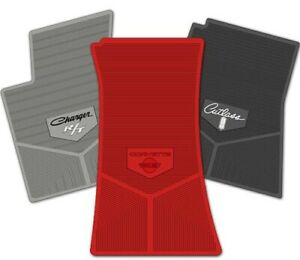 Rubber 4pc Floor Mats For 1971 1973 Plymouth Barracuda Pick Year Logo Color