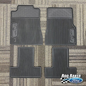 2005 2009 Ford Mustang Oem Ford Black Rubber All Weather Floor Mat Set 4 Pc New