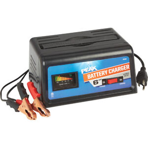 Peak Brand Automatic 12 Volt Linear 6 amp Battery Charger 2 amp Trickle New