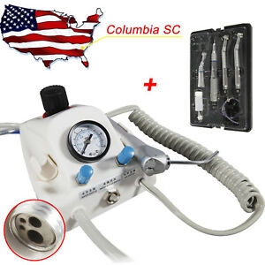 Portable Dental Air Turbine Unit 4hole With Low high Speed Handpiece Kit Usa