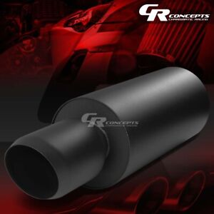 3 inlet 4 5 Black Domed Tip Universal Stainless Steel Round Exhaust Muffler