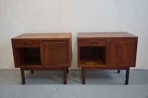Pair Of Mid Century Modern Nightstands By Founders Furniture