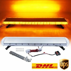 47 88w Led Strobe Light Bar Amber yellow Emergency Beacon Hazard Warning Flash