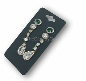 500pc 2x4 Inch Black Paper Earrings Display Hanging Cards For Jewelry Accessory