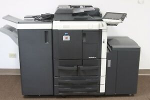 Konica Minolta Bizhub 751 Office Copier Printer Page Count 1 7m W Finisher
