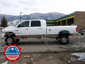 Fits 2006 2008 Dodge Ram Mega Cab Long Bed Rocker Panel Trim 8 Stainless Steel